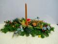 Centrotavola Natalizio ovale   cm. 60 con frutta