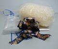 Paglietta Trasparente   con Fiocco e foglio cellofan