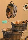 Cesti ovali x 3 in legno  dm. 38/26 Linea legno