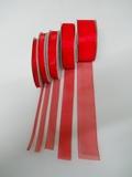 Nastro Organza Rosso x 50 metri  varie altezze