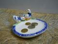 Paperine su piattino in ceramica  decorata