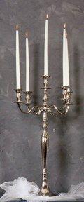 Candelabro H 60  cinque luci Bianco - Oro - Silver