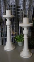 Candelabri in legno   con frangivento in 2 misure