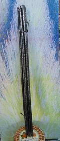 Canne x 8 nere   H 150 glitterate