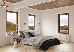 Finestra 2 ante Asimmetrica/ Skywood Evo 2 Original/ Legno-Alluminio