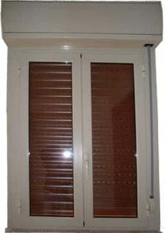 infissi in alluminio con cassonetto esterno  su misura  tapparella in alluminio