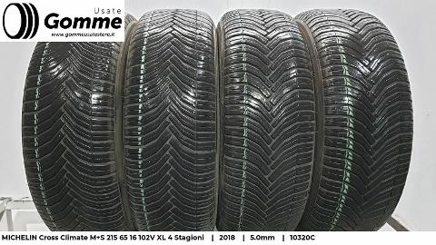 Pneumatici Gomme Usate MICHELIN Cross Climate M+S 215 65 16 102V XL 4 Stagioni Michelin Cross Climate M+S 4 Stagioni