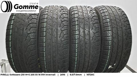 Pneumatici Gomme Usate PIRELLI Sottozero 210 M+S 205 55 16 91H Invernali Pirelli Sottozero 210 M+S