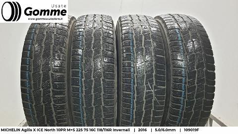 Pneumatici Gomme Usate MICHELIN Agilis X 10PR M+S 225 75 16C 118/116R Invernali Michelin Agilis X 10PR M+S