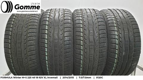 Pneumatici Gomme Usate FORMULA Winter M+S 225 40 18 92V XL Invernali Formula Winter M+S