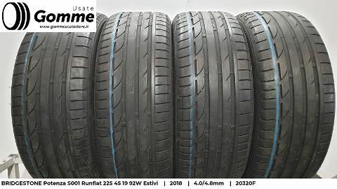 Pneumatici Gomme Usate BRIDGESTONE Potenza S001 Runflat 225 45 19 92W Estivi Bridgestone Potenza S001 Runflat