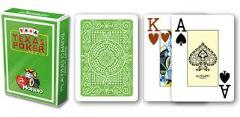 CARTE TEXAS POKER MODIANO PL 25 DORSO VERDE CHIARO