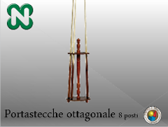 PORTASTECCHE OTTOGONALE BASSO 8 POSTI  NORDITALIA