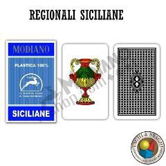 CARTE MODIANO SICILIANE N° 96/10 PLASTICA DORSO BLU