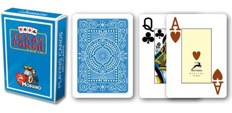 CARTE TEXAS POKER  MODIANO PL 25 DORSO AZZURRO