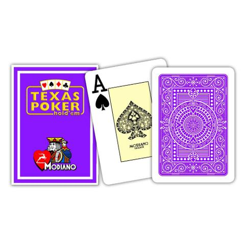 CARTE TEXAS POKER MODIANO PL 25 DORSO VIOLA