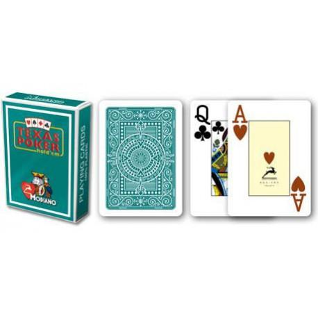 CARTE TEXAS POKER MODIANO PL 25 DORSO VERDE SCURO