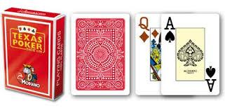 CARTE TEXAS POKER MODIANO PL 25 DORSO ROSSO