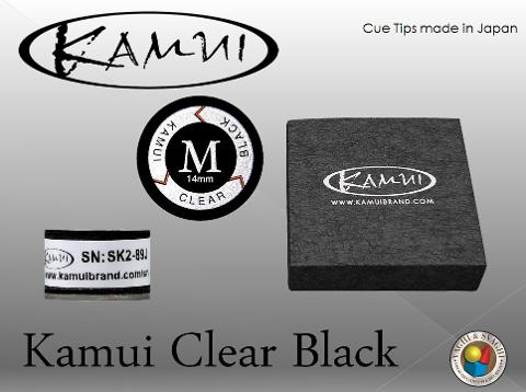 CUOIO  KAMUI BLACK CLEAR MEDIUM DIAM. 14 MM