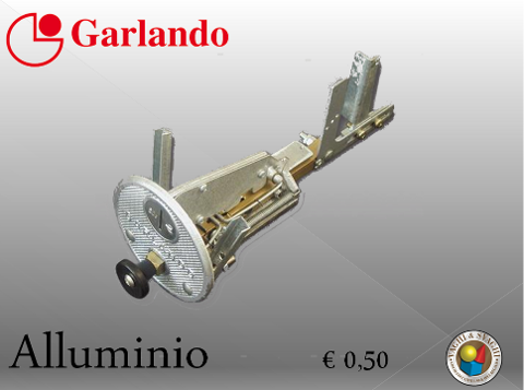 GETTONIERA IN ALLUMINIO Garlando  EURO 0,50 ART.40