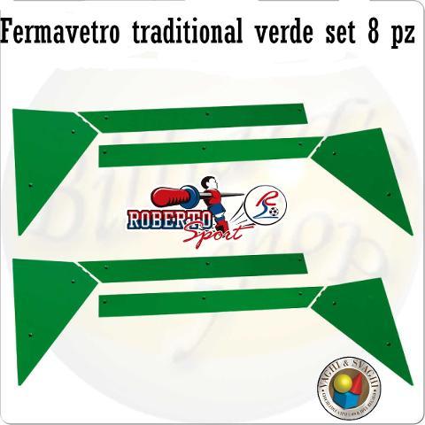 FERMAVETRO  8 PZ ROBERTO SPORT TRADITIONAL VERDE
