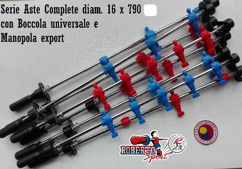ASTE COMPLETE OMETTI ROSSO/BLU ROBERTO SPORT DIAM. 16 X 790 MM BOCCOLA UNIVERSALE/EXPORT