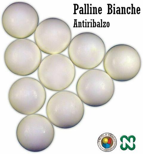 PALLINE NORDITALIA ANTIRIMBALZO BIANCHE SET 10 PZ.