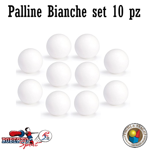 PALLINE ROBERTO SPORT  BIANCHE SET 10 PZ.