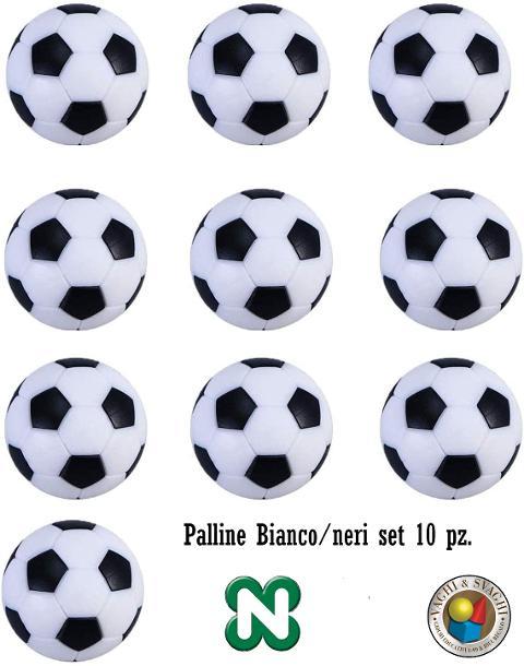 PALLINE NORDITALIA BIANCO/NERE SET 10 PZ