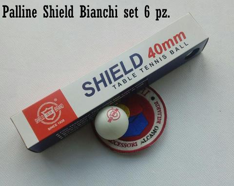 PALLINE NORDITALIA SHIELD 6 PZ. DIAM. 40 MM.