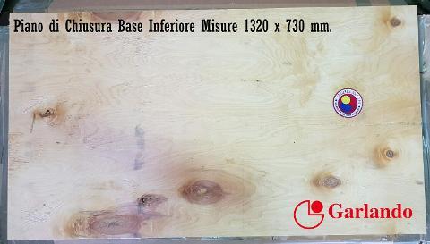 PIANO DI CHIUSURA GARLANDO PARTE INFERIORE  ART.12
