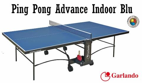 PING PONG  GARLANDO MODELLO ADVANCE INDOOR PIANO BLU