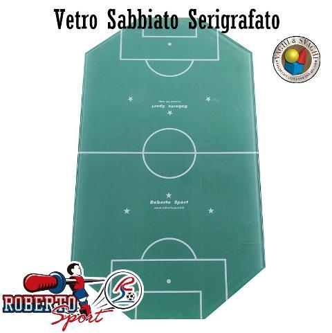VETRO CAMPO GIOCO ROBERTO SPORT SERIGRAFATO SABBIATO