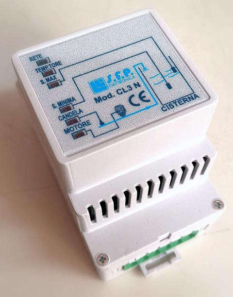 CENTRALINA DI COMANDO PER CONTROLLO DI LIVELLO - CL3N - 12/24V AC DC SFP Elettronica CL3N-CON EVENTUALI PERSONALIZZAZIONI DEL PRODOTTO ALLE TUE ESIGENZE.