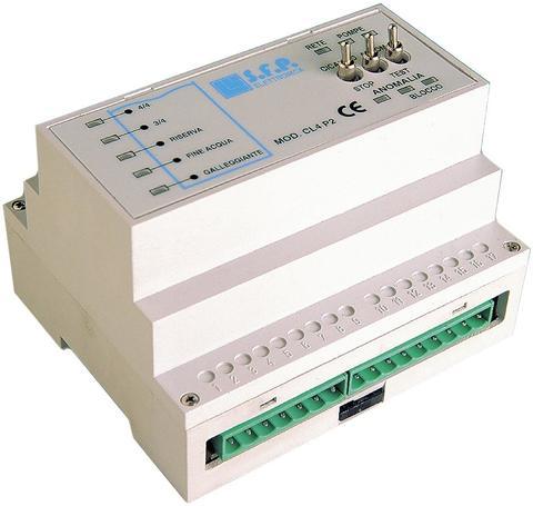 CENTRALINA DI COMANDO PER CONTROLLO DI LIVELLO - CL4P2 - 12/24Vca/cc SFP Elettronica CL4P2-CON EVENTUALI PERSONALIZZAZIONI DEL PRODOTTO ALLE TUE ESIGENZE.