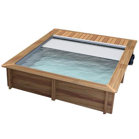Realizzazione Piscina fuori terra in legno quadrata  Pistoche