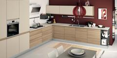 Cucine componibili moderne CREO KITCHENS (by LUBE) a Caltagirone CREO KITCHENS (by LUBE) NITA / ZOE / ANK / JEY