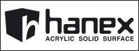 Hanex® solid surface, minerale di roccia e metilmetacrilato by SADUN