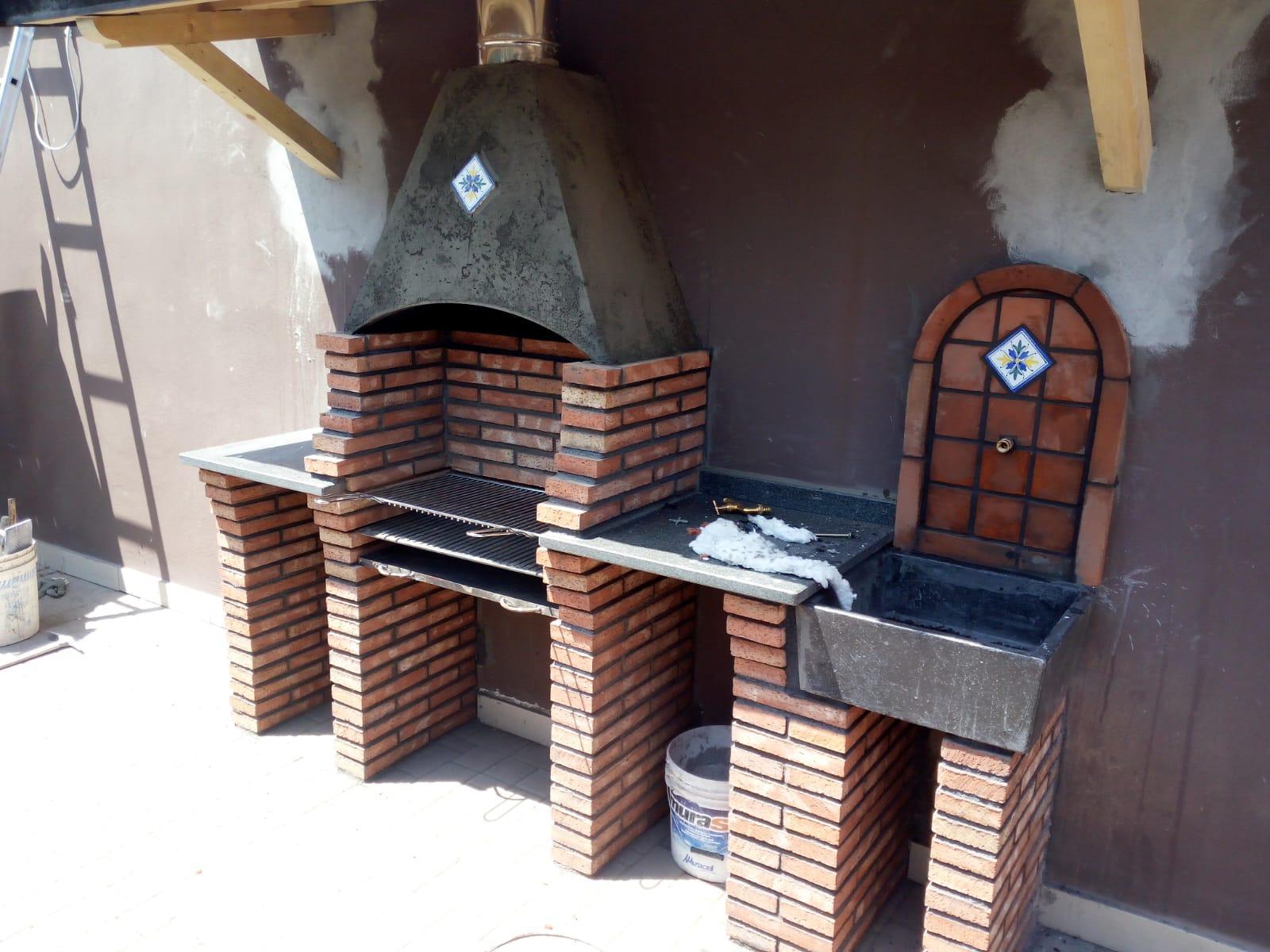 Barbecue In Muratura Immagini barbecue e forni in muratura - prodotti & servizi - adrano