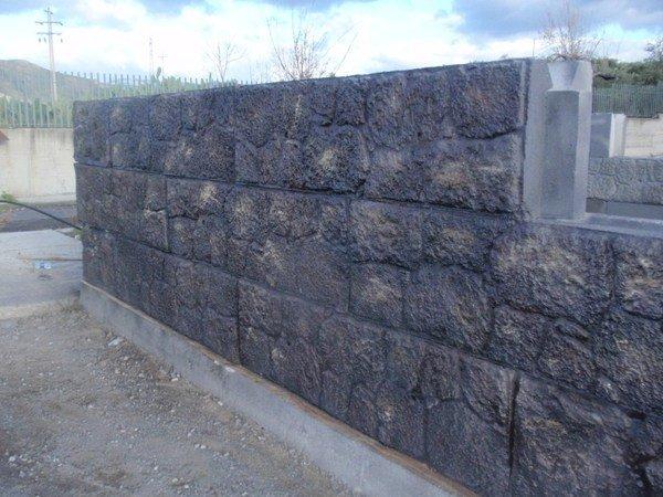 Blocchi Calcestruzzo Per Muri.Blocchi In Calcestruzzo Effetto Pietra Lavica Pesanblocklavestone