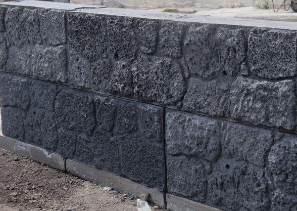 Blocchi in calcestruzzo effetto pietra lavica pesanblocklavestone