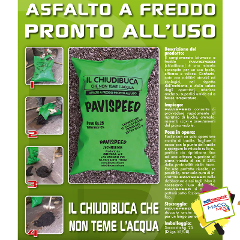 ASFALTO A FREDDO PAVISPEED BRUMA SRL ASFALTO A FREDDO KG. 25
