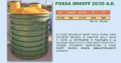 FOSSA BIOLOGICA IMHOFF IN POLIETILENE ECOPOL 20/30 A.E.