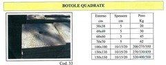 Botole quadrate in cemento  ADRANO CALCESTRUZZI s.r.l. SONO PRODOTTI IN CALCESTRUZZO  VIBRO-COMPRESSO