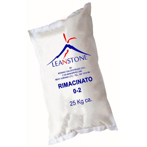 RIMACINATO (0/2) LEANSTONE AGGREGATO PER CALCESTRUZZO in Sacchi da KG.25