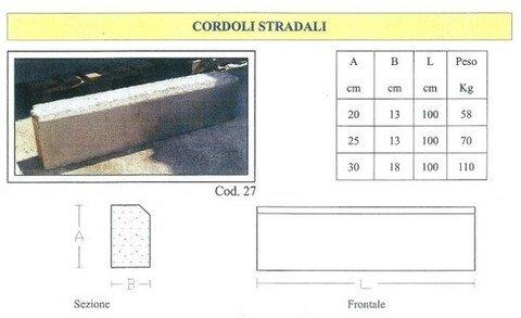 Cordoli stradali in cemento  ADRANO CALCESTRUZZI s.r.l. SONO PRODOTTI IN CALCESTRUZZO  VIBRO-COMPRESSO