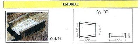 Embrici in cemento  ADRANO CALCESTRUZZI s.r.l. SONO PRODOTTI IN CALCESTRUZZO  VIBRO-COMPRESSO
