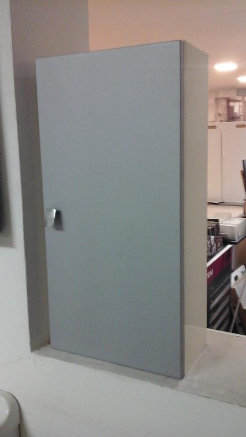 Pensile 1 anta laccato grigio opaco