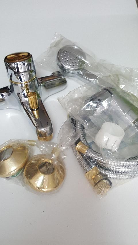Gruppo vasca completo cromo-oro