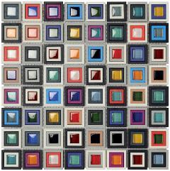 Mosaico su rete 26.6x26.6 Multicolor Boxer Multicolor
